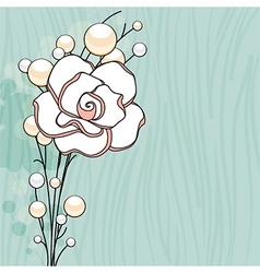 Rose and Pearls Background vector image