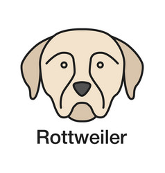 rottweiler color icon vector image