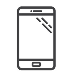 smartphone line icon phone and touch screen vector image