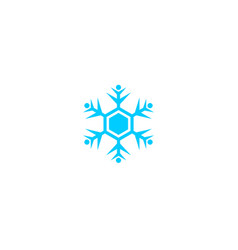 snow design round web blue button vector image