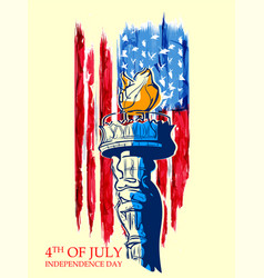 statue of liberty on fourth of july background for vector image