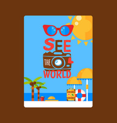 summer vacation inspirational poster vector image