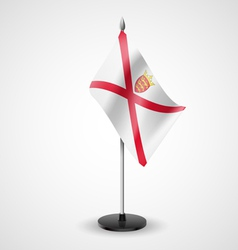 Table flag of Jersey vector image