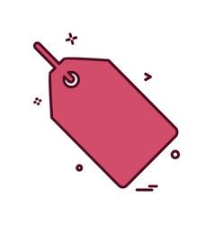 tag icon design vector image