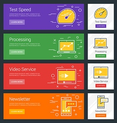Test speed processing video service newsletter vector