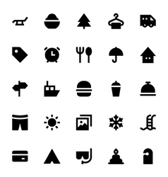 Tourism and Travel Icons 1 vector image