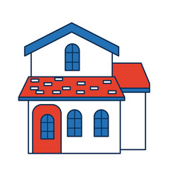 Traditional house swiss architecture style vector