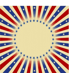 usa radial background vector image
