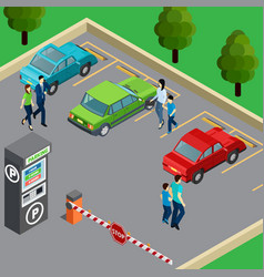 vending machine isometric vector image