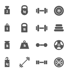 Weight icons vector