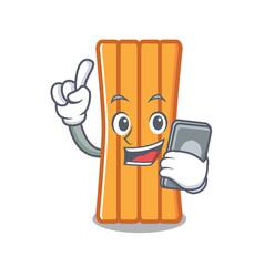 with phone air mattress character cartoon vector image