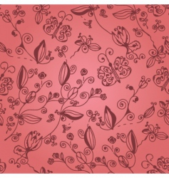 butterfly pink vector image