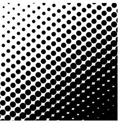 halftone dots on black background vector image