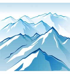 icy mountains vector image vector image