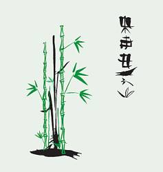 ink bamboo vector image