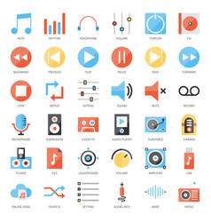 music user interface vector image