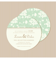 Round invitation card vector