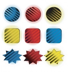 shapes icons vector image