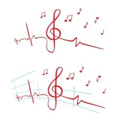 EKG of music vector image vector image