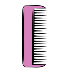 pink plastic comb icon icon cartoon vector image