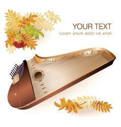 Traditional Finnish kantele vector image