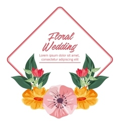 Drawing flower icon Floral wedding design vector image vector image