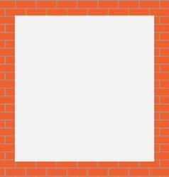 Frame orange bricks vector image vector image