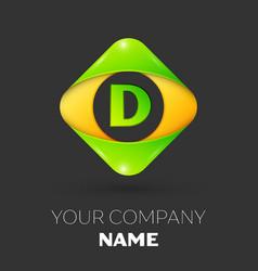 Letter d logo symbol in colorful rhombus vector