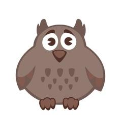 Owl funny cartoon character cute icon vector