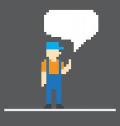 Pixel man vector