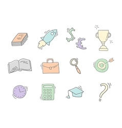 Set of Hand drawn business icons vector image vector image