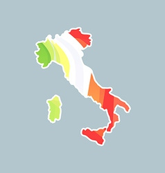 Silhouette of Italy on map vector image vector image