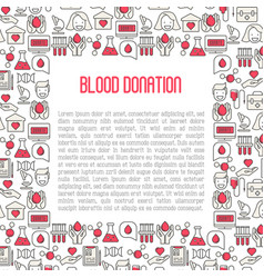 blood donation concept for web page banner vector image vector image