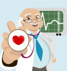 doctor with health symbol vector image