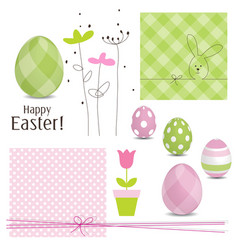 Easter design elements vector image vector image