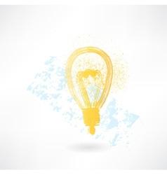 lightbulb grunge icon vector image vector image