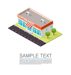 supermarket on the roadside vector image