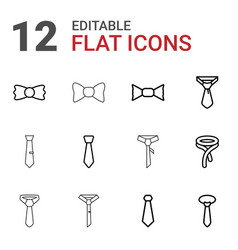 12 neck icons vector image