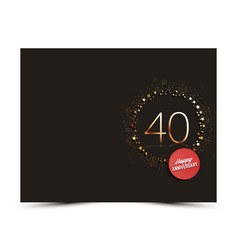40 years anniversary decorated card template vector