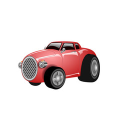A shiny and polished cartoon red car vector