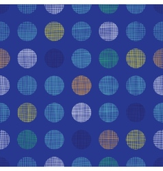 Abstract textile polka dots on blue seamless vector