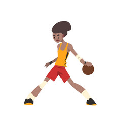 african american basketball player athlete in vector image