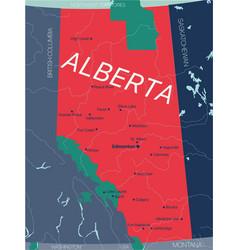 Alberta province editable map canada vector