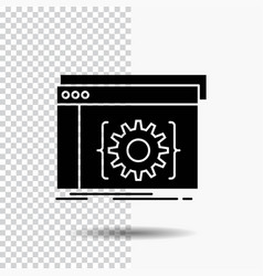 api app coding developer software glyph icon on vector image
