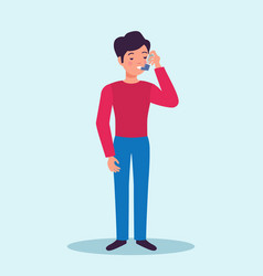 Asthma patient flat character vector