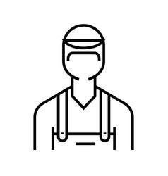 auto mechanic line icon concept sign outline vector image