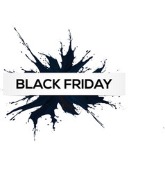 black friday big sale black ink splach vector image