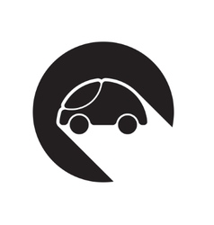 Black icon with car and stylized shadow vector