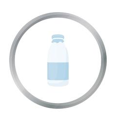 Bottle milk icon cartoon Single bio eco organic vector