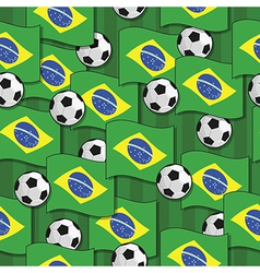brazil football pattern vector image